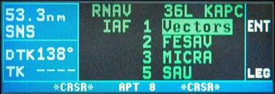 KLN 94 GPS instrument approach IAF