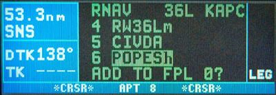KLN 94 GPS instrument approach hold