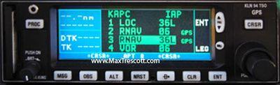 KLN 94 GPS instrument approach RNAV Z