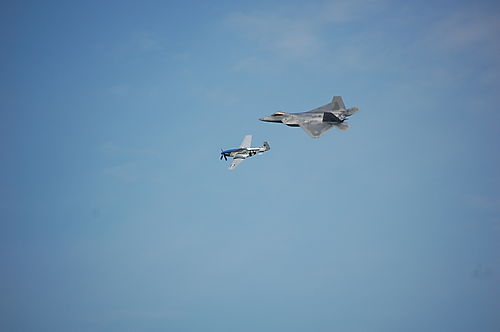 P51 Mustang and F22 Raptor