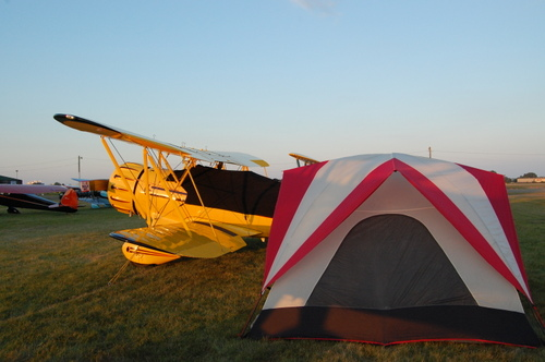 Plane and Tent