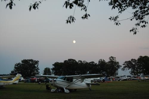 Moonrise over Oshkosh