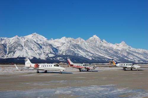 Flight line at KJAC